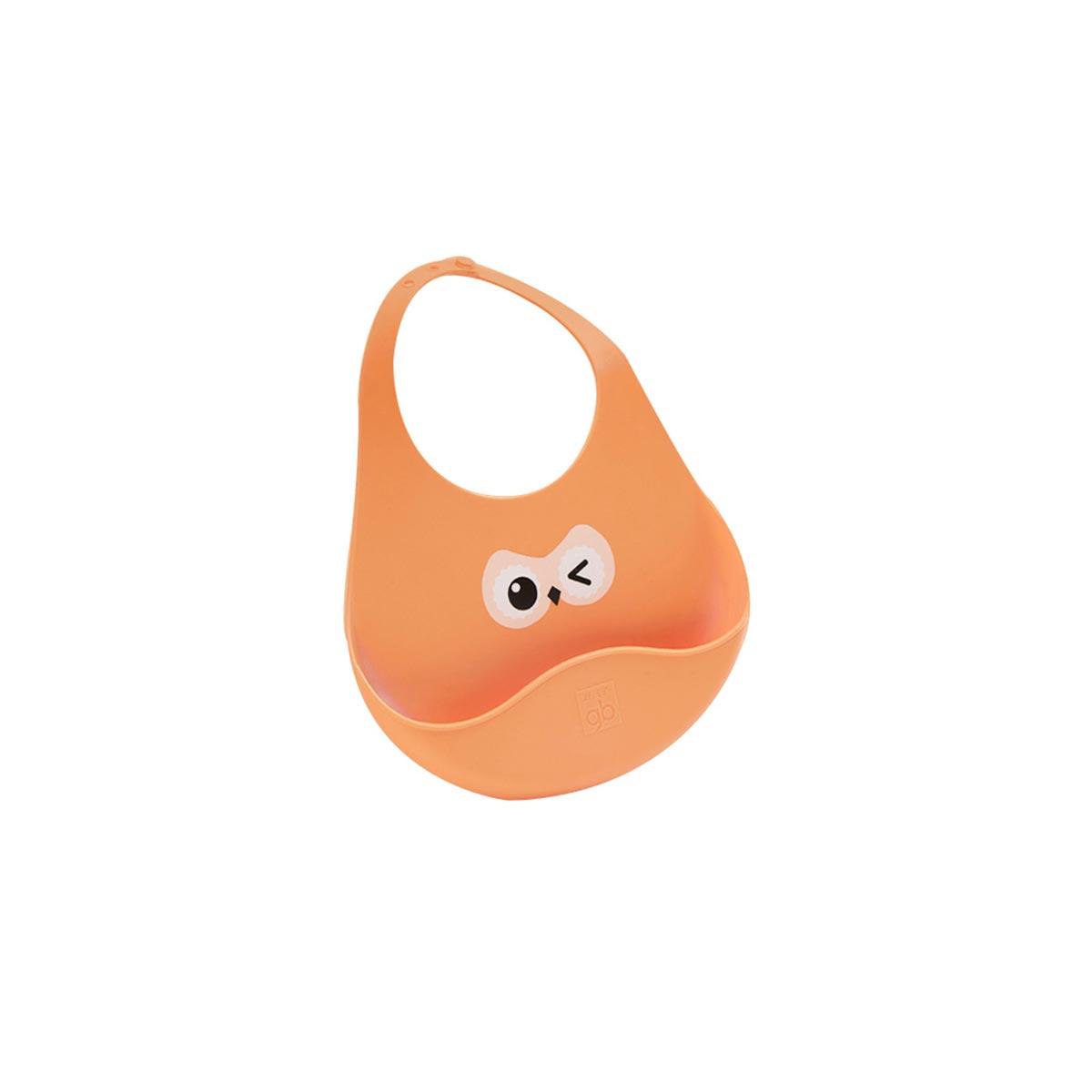 GoodBaby好孩子 婴儿硅胶围兜 阳光橙