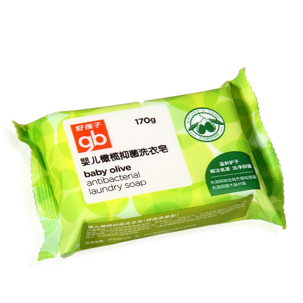 好孩子 婴儿橄榄抑菌洗衣皂170g*5盒
