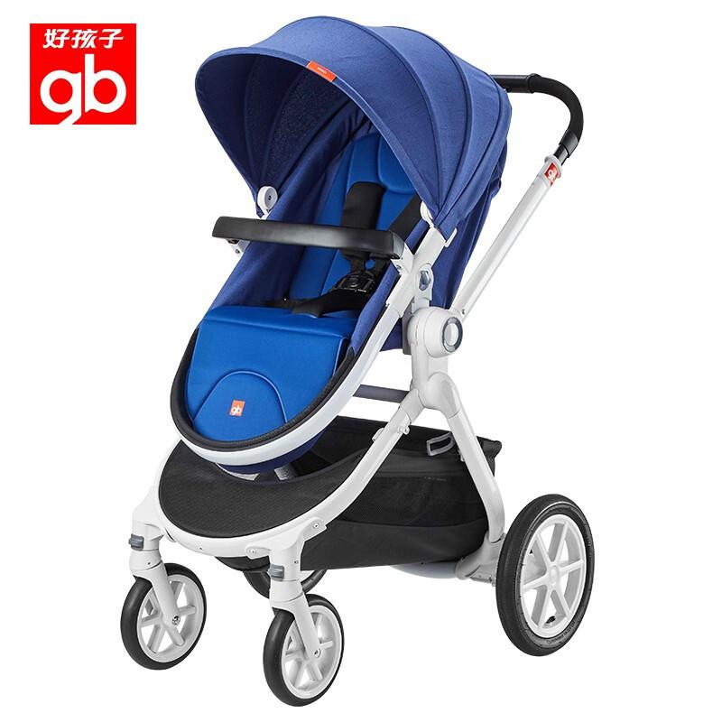 GoodBaby好孩子 高景观SUV避震婴儿车 可坐可躺轻便儿童手推车 蓝色GB08F-R402BB