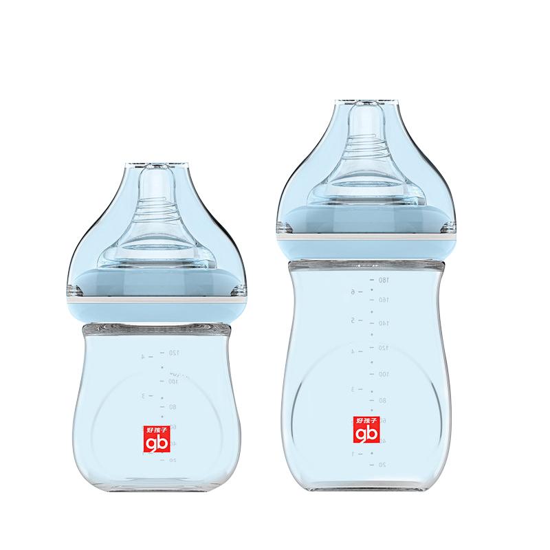 GoodBaby好孩子 新生婴幼儿玻璃奶瓶礼盒 粉蓝P80071
