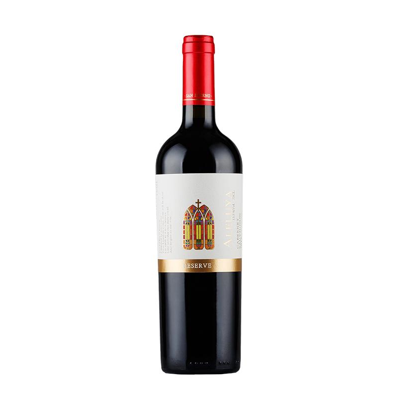 葡萄酒 智利原瓶进口 哈雷路亚(ALELUYA)珍藏赤霞珠干红750ml*1
