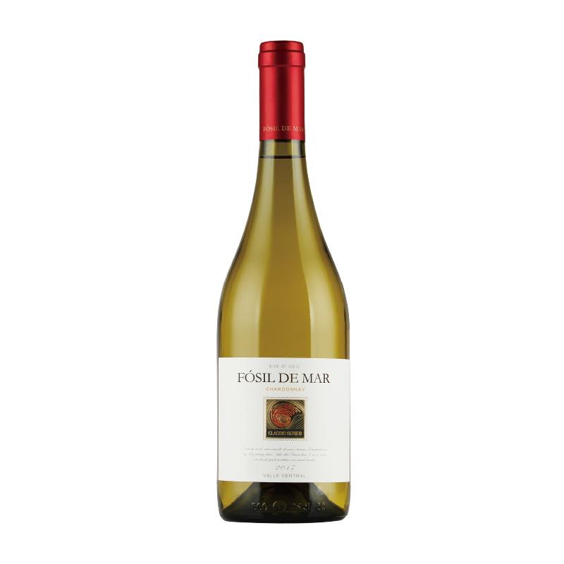 葡萄酒 智利原瓶进口 螺化石经典莎当妮干白葡萄酒 750ml*1