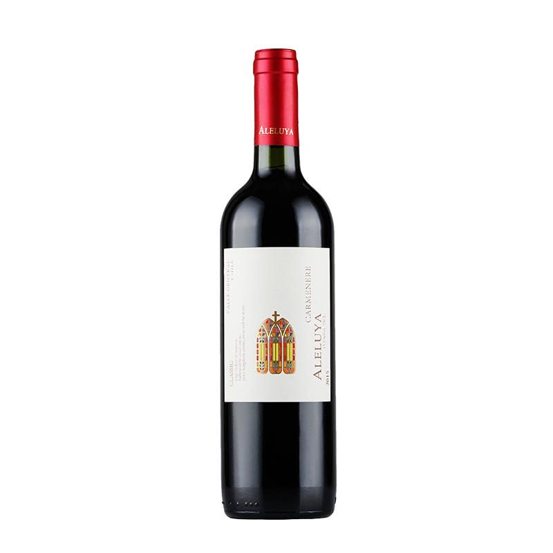 红酒 智利原瓶原装进口 哈雷路亚(ALELUYA)经典卡门妮雅750ml*1