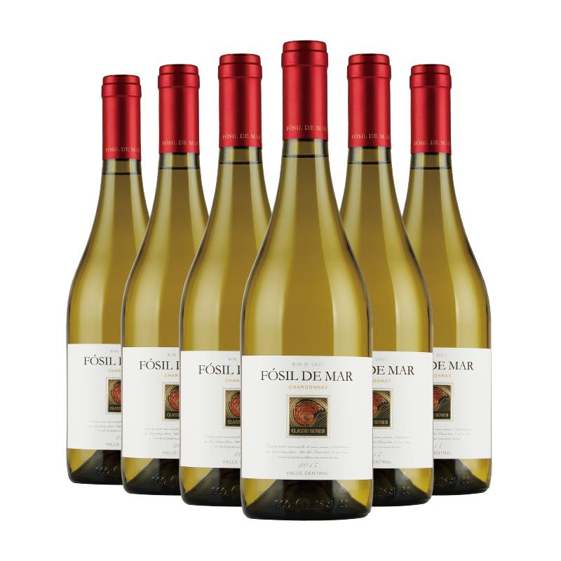 永恒酒庄  智利原瓶进口 螺化石经典莎当妮干白葡萄酒 750ml*6