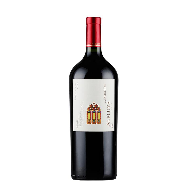 葡萄酒 智利进口红酒 哈雷路亚(ALELUYA)经典卡门妮雅1500ml*1