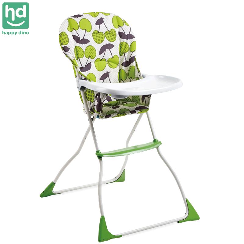 小龙哈彼(HAPPYDINO)儿童餐椅多功能婴儿宝宝餐椅便携折叠餐椅多档调节布套可拆洗 折叠轻便易收纳-果绿色LY100-M150