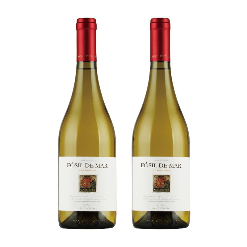 白葡萄酒 智利原瓶进口 螺化石经典莎当妮干白葡萄酒 750ml*2