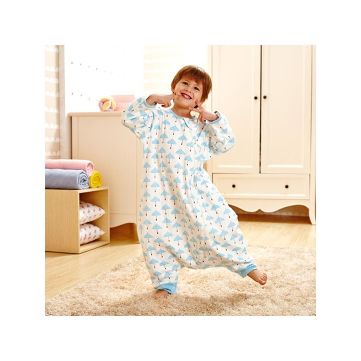 GoodBaby好孩子 婴幼儿分腿防踢睡袋 春夏款 儿童睡袋婴儿睡衣 70cm 蓝色BQ1561066254000