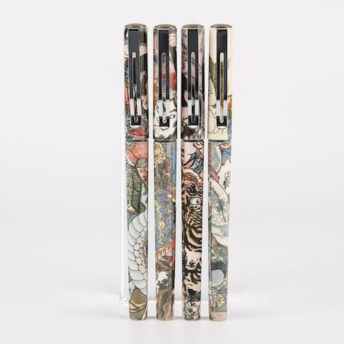 晨光大英博物馆水浒豪杰系列速干水性签字笔 插拔 全针管 0.5 2支装ARP57507