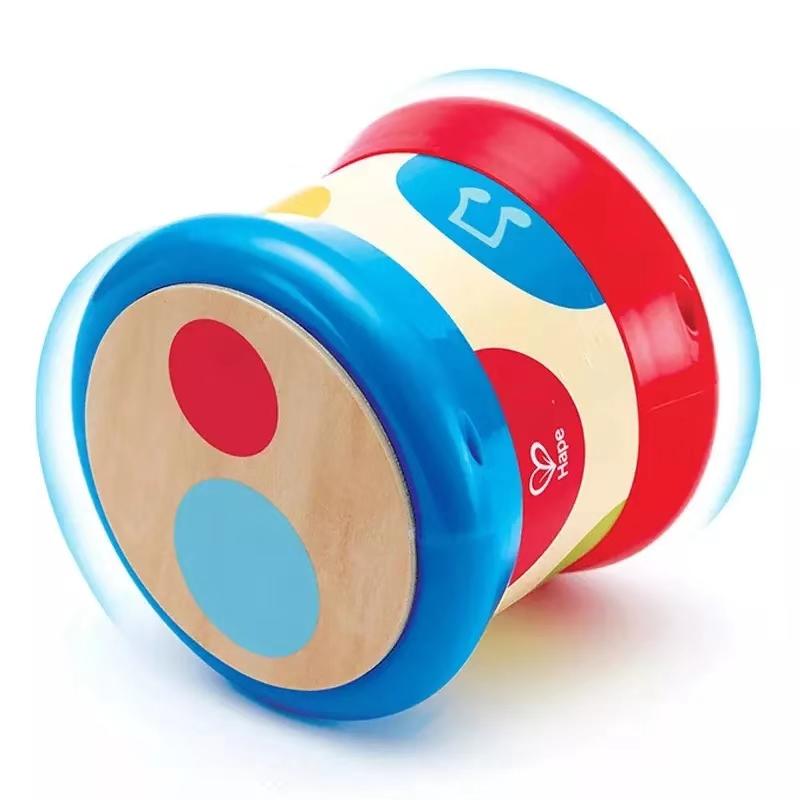 HapeE0333 儿童音乐玩具 木质扩音重力鼓麦克风 早教1-3-6周岁男女小孩礼物益智玩具 E0333滚滚乐重力感应电子音乐鼓