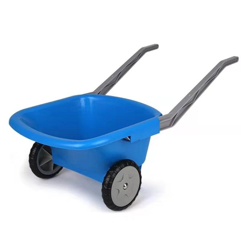 hape E4047儿童沙滩玩具手推车运沙车 海边装沙挖沙翻斗车 1-3-6岁男女小孩宝宝早教礼物 E4047沙滩推车蓝色