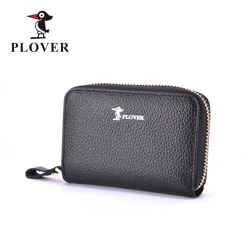 PLOVER啄木鸟头层牛皮风琴式卡包零钱包GD5263-KA黑色全国包邮
