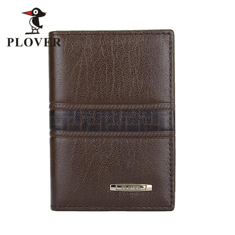 PLOVER啄木鸟男士时尚商务头层牛皮名片包卡片包一体功能包小钱包GD5206-B棕色全国包邮