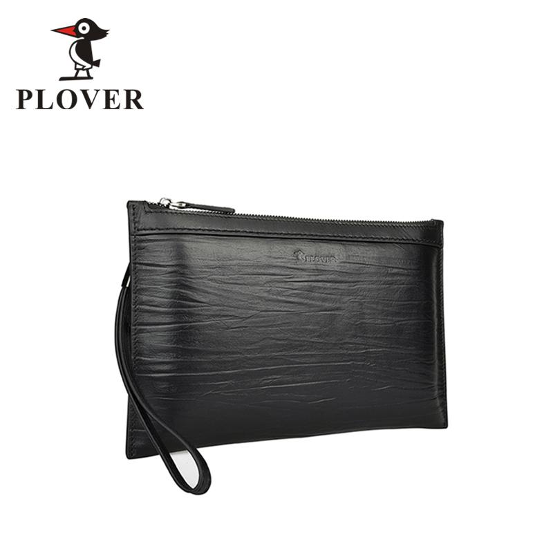 PLOVER啄木鸟极致薄头层牛皮信封包夹包GDYB002-A黑色全国包邮