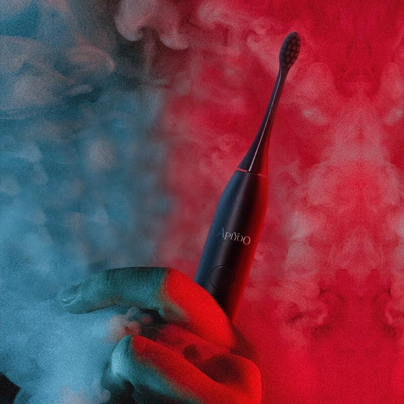 荷兰艾优APIYOO电动牙刷SUP成人声波网红限量版红色S软毛防水充电式男女通用 SUP 成人 SUP黑(限量款) 成人