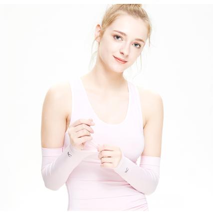 韩国VVC冰丝神袖防晒袖套防紫外线男女薄长款开车冰丝袖子手臂套(2对装)