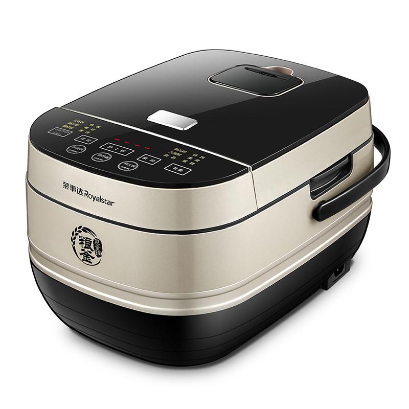 Royalstar/荣事达 电饭锅4L容量微电脑电饭煲家用加厚精铁内胆RFB-IH40G 黑金款