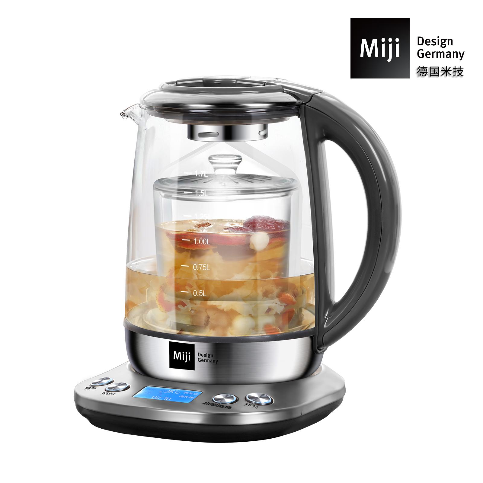 MIJI米技米技多功能家用养生壶玻璃电煮茶壶HP-01