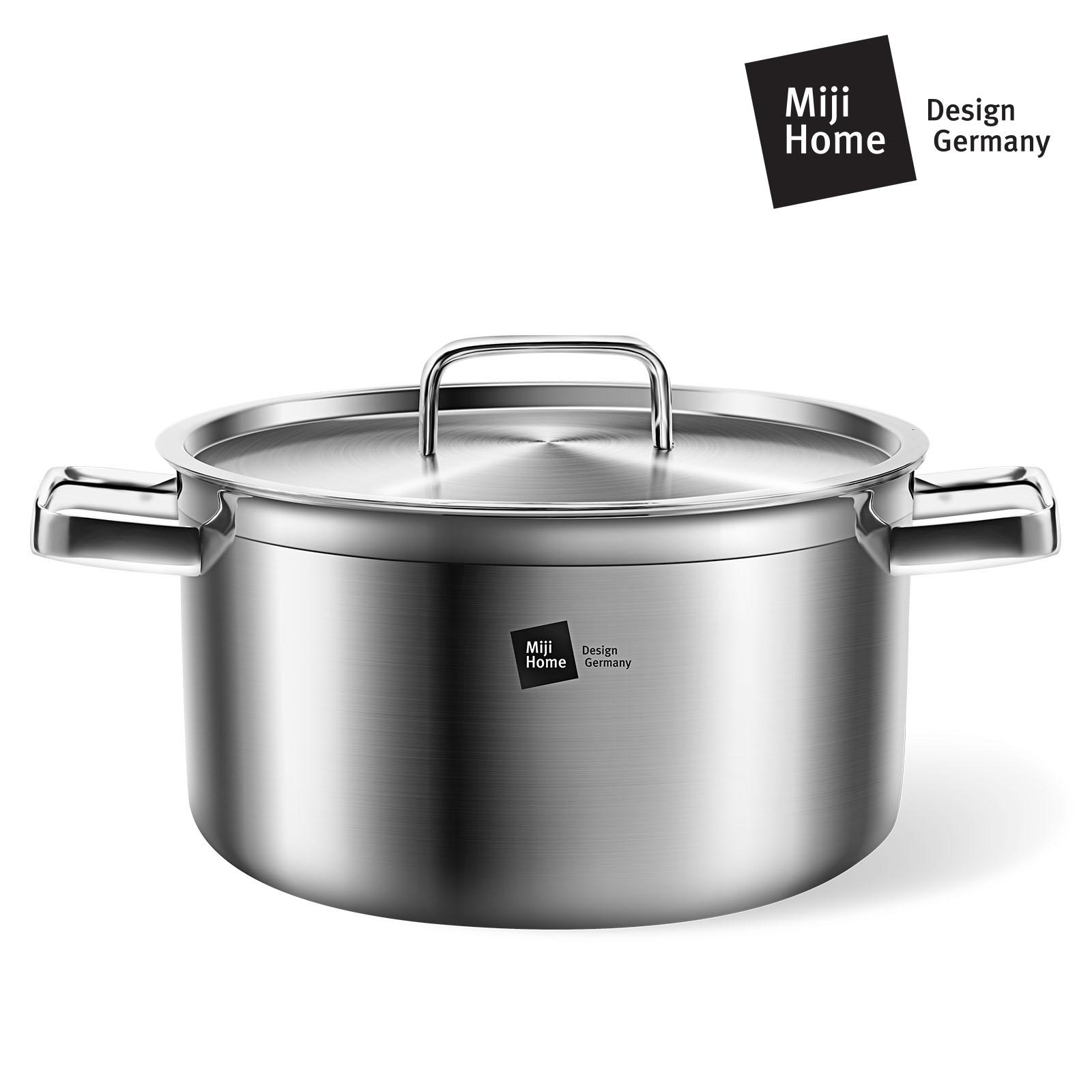MIJI米技银河系列20cm不锈钢汤锅 加厚复合双耳汤锅