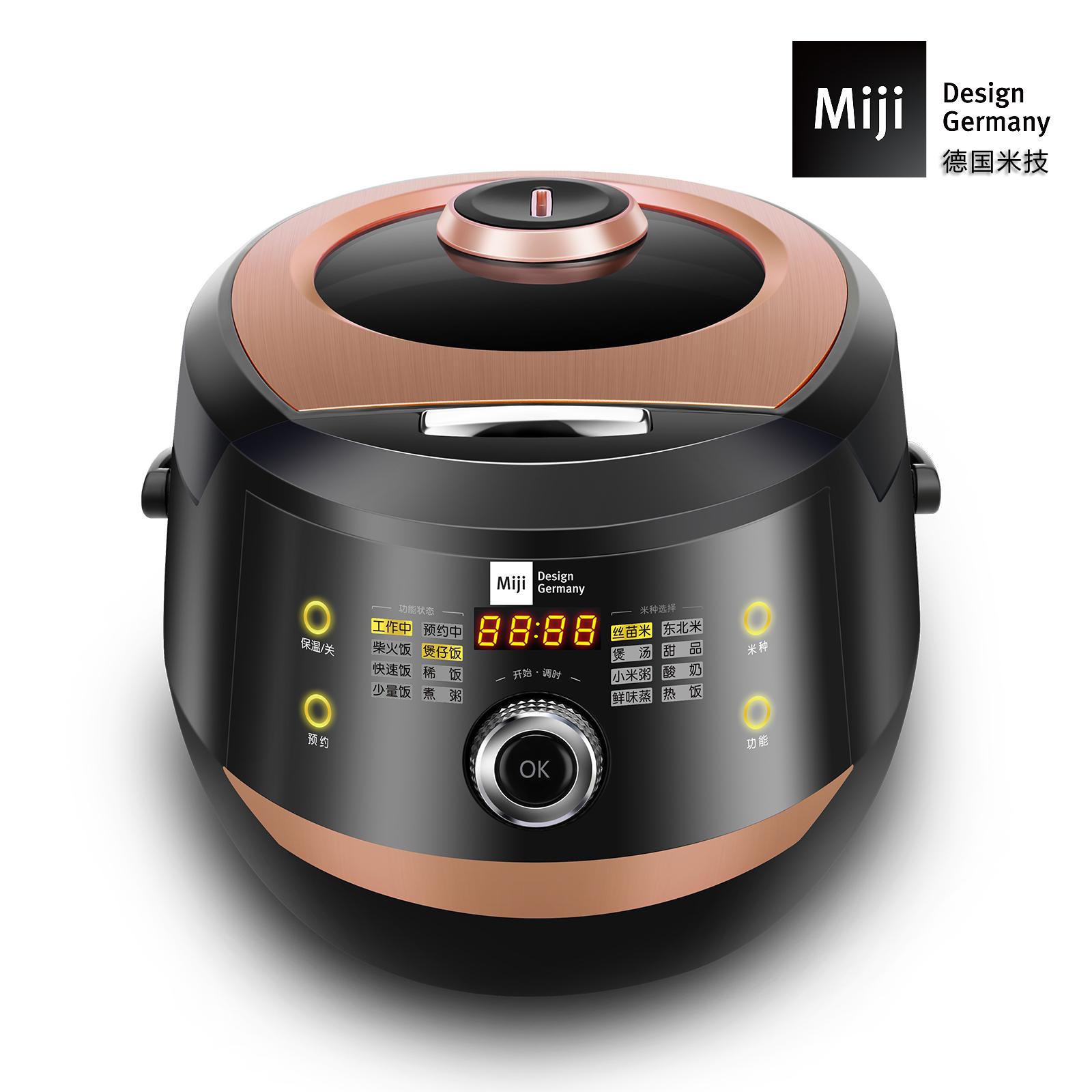 MIJI米技电饭煲电饭锅 大容量不粘内胆多功能智能预约一键飞梭触控ECG-104L