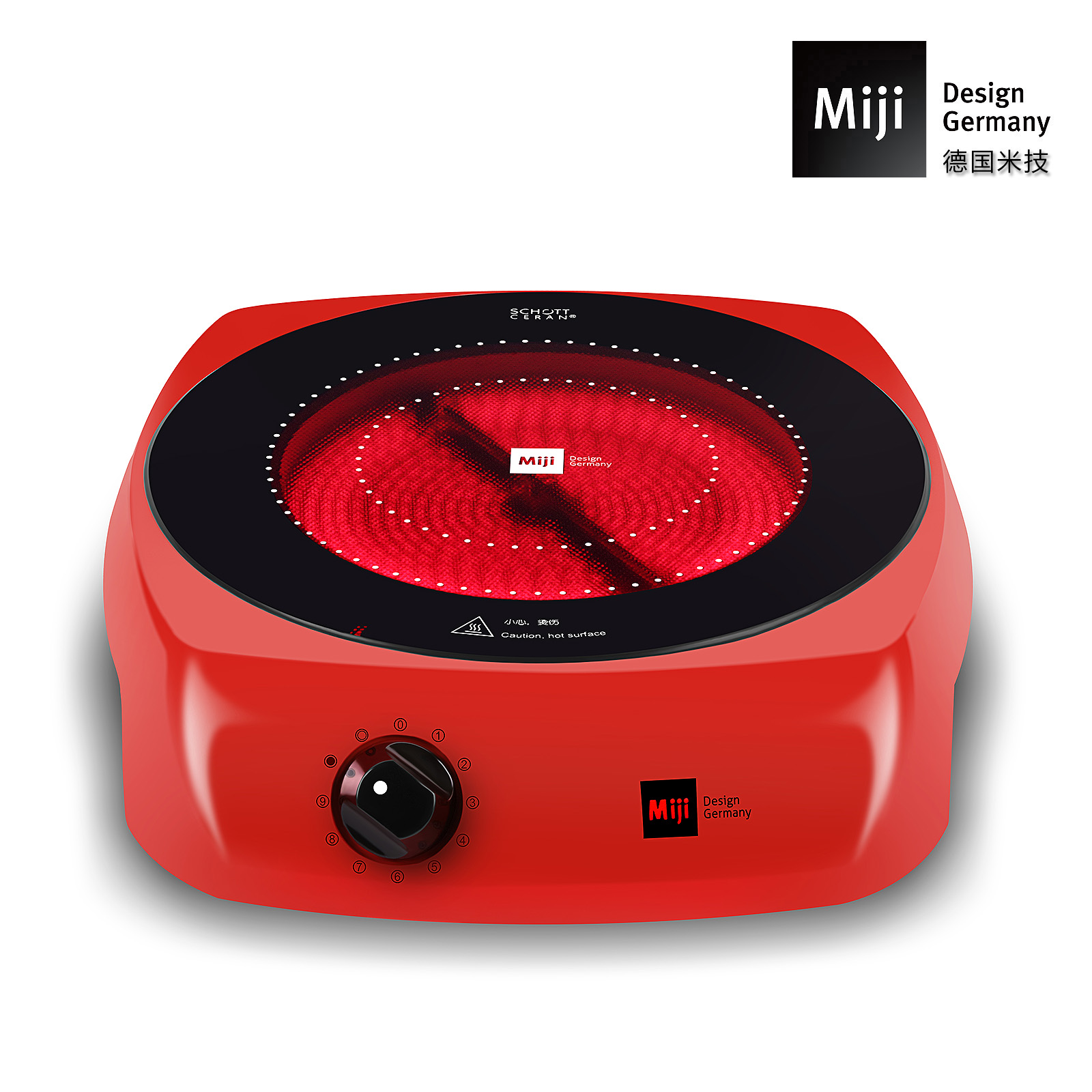 MIJI米技1600W 双圈家用电陶炉辐热炉米技养生炉