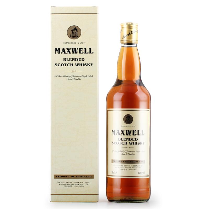 苏格兰进口洋酒 MAXWELL麦斯威 单一麦芽威士忌700ML