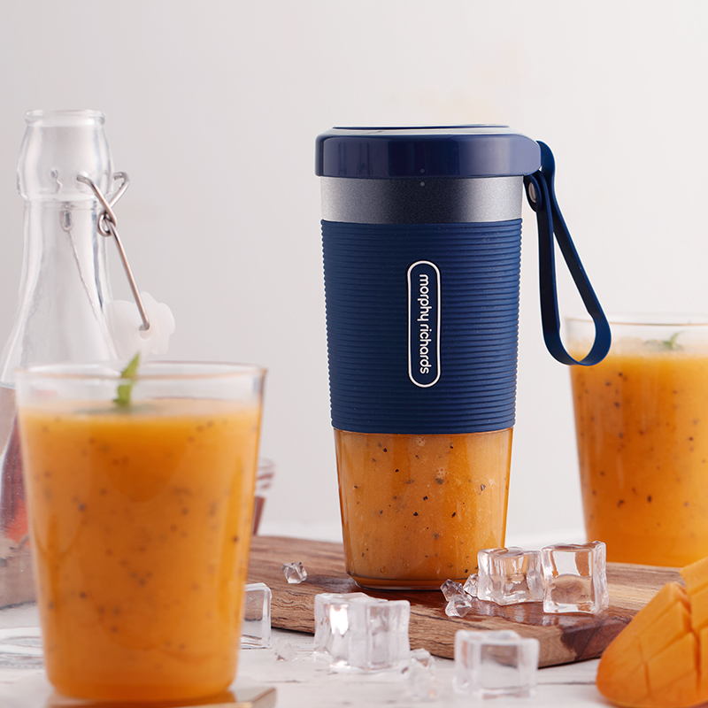 英国 摩飞电器 便携充电式榨汁机家用小型无线电动迷你料理水果汁杯 蓝色