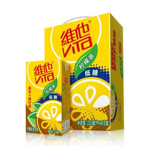 【整箱优惠】维他低糖柠檬茶(箱装250ml*16)
