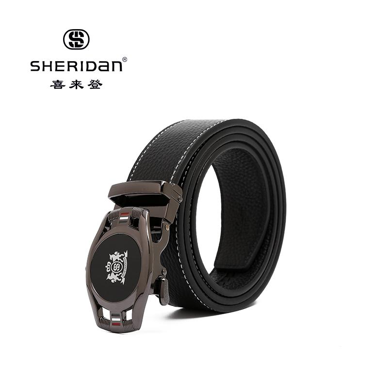 Sheridan喜来登专柜正品头层牛皮商务男士搭扣腰带喜来登皮带NL190358S
