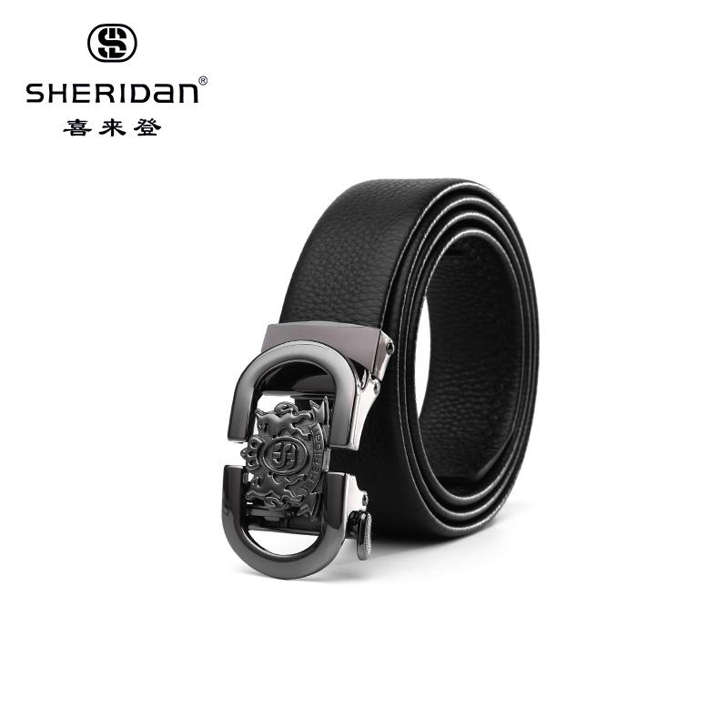 Sheridan喜来登专柜正品头层牛皮商务男士搭扣腰带喜来登皮带NL180354S