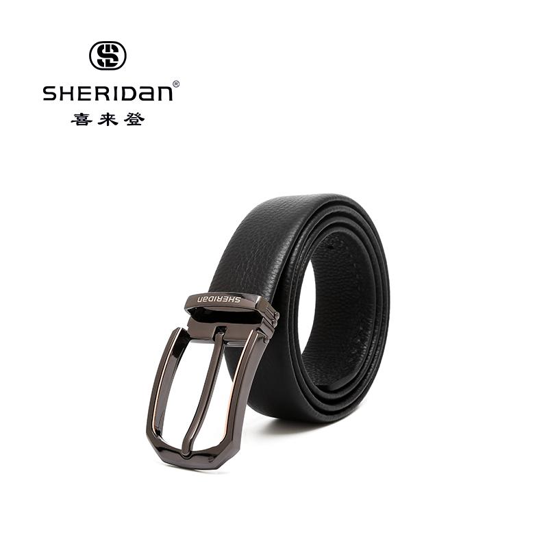 Sheridan喜来登专柜正品头层牛皮商务男士搭扣腰带喜来登皮带NL190351S
