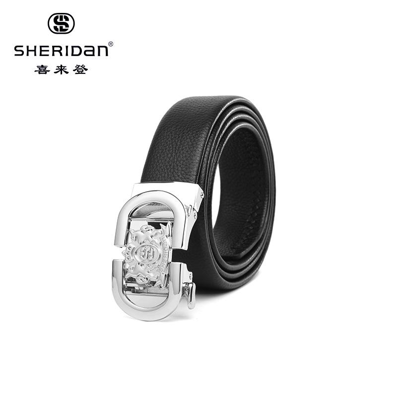 Sheridan喜来登专柜正品头层牛皮商务男士搭扣腰带喜来登皮带NL180353S