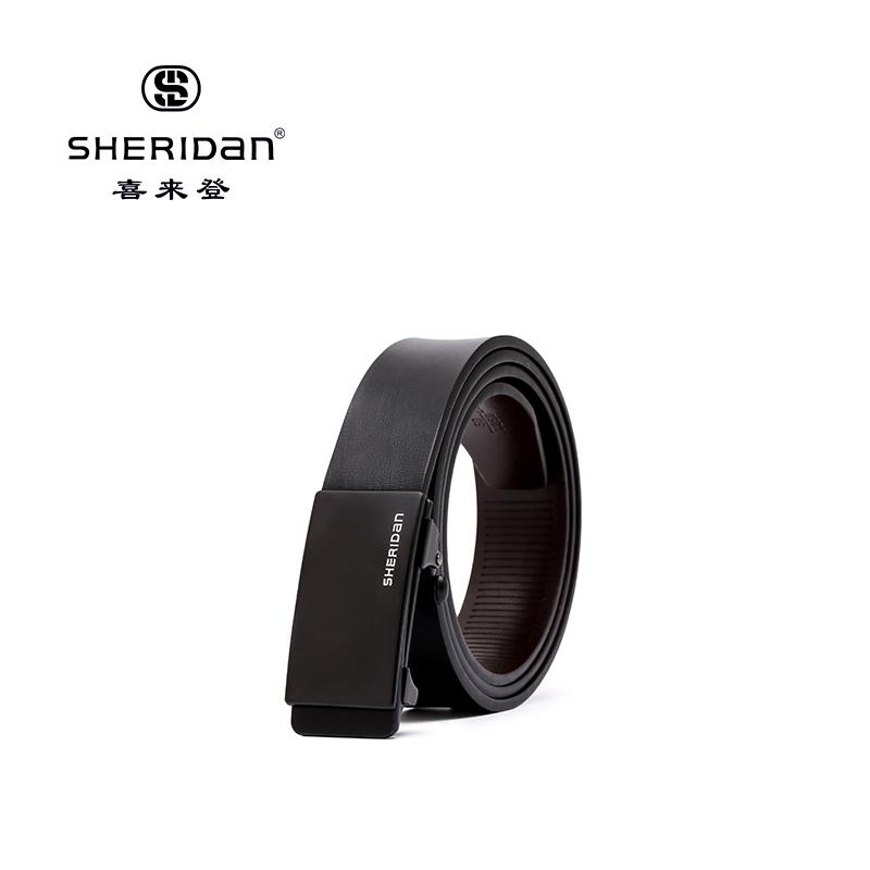 Sheridan喜来登专柜正品头层牛皮商务男士搭扣腰带喜来登皮带NL190353S