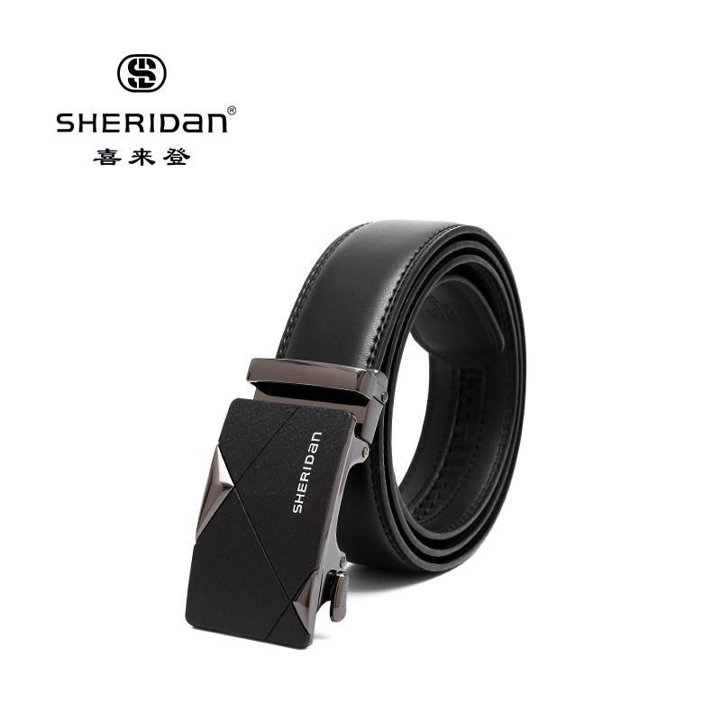 Sheridan喜来登专柜正品头层牛皮商务男士搭扣腰带喜来登皮带SL190453S