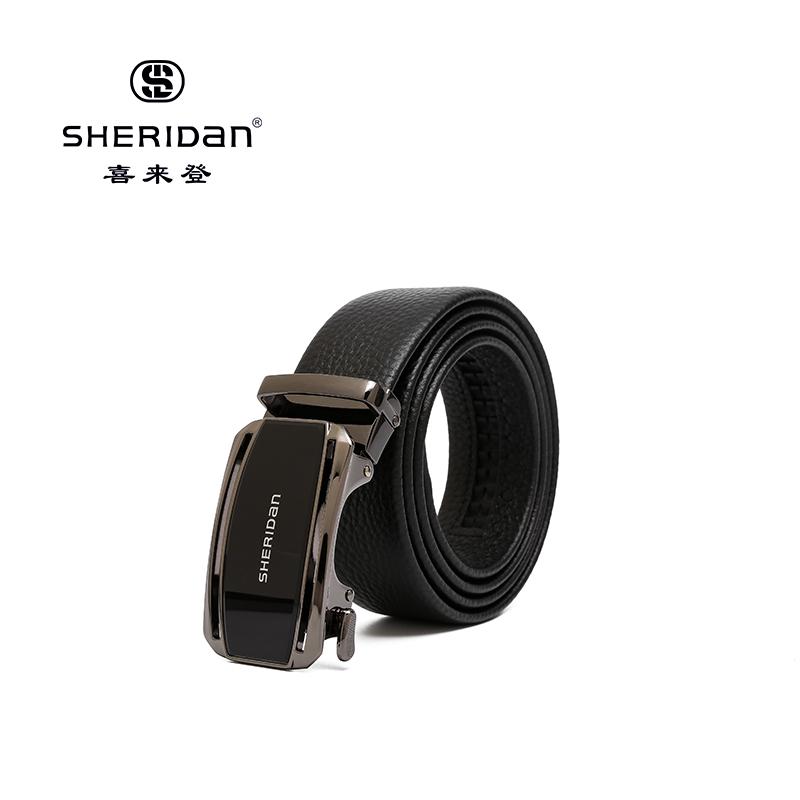 Sheridan喜来登专柜正品头层牛皮商务男士搭扣腰带喜来登皮带NL190352S