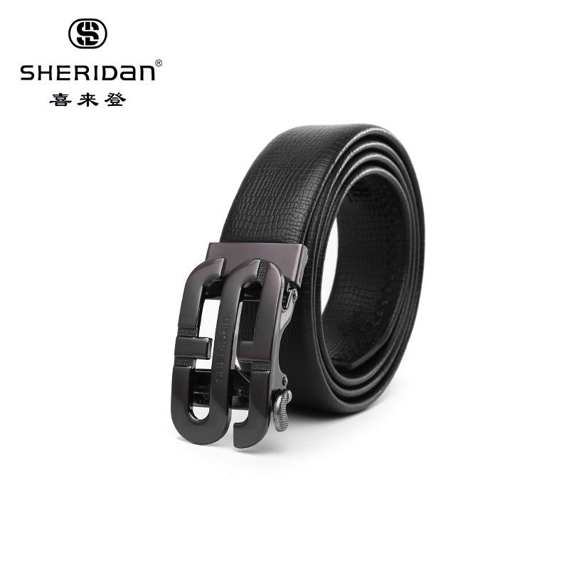 Sheridan喜来登专柜正品头层牛皮商务男士搭扣腰带喜来登皮带NL180357S