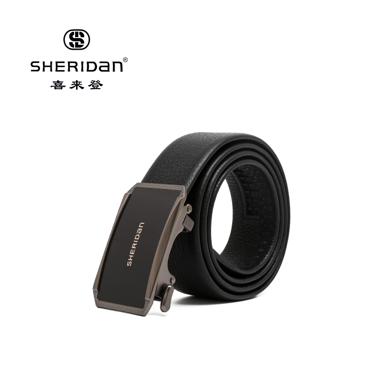 Sheridan喜来登专柜正品头层牛皮商务男士搭扣腰带喜来登皮带NL190361S