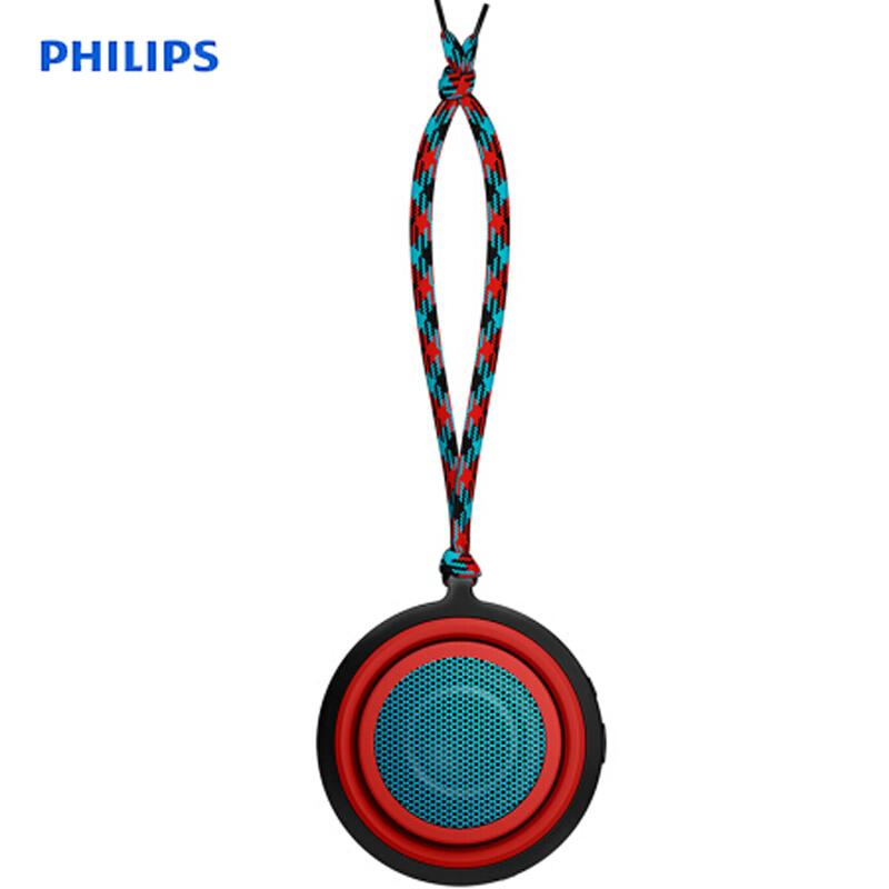 飞利浦 PHILIPS BT2000 音乐手鼓无线蓝牙音箱 便携迷你音响 手机电脑小音响 红色