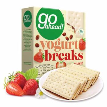 【中粮】Go ahead果悠萃草莓果干酸奶涂层饼干178g(英国进口)