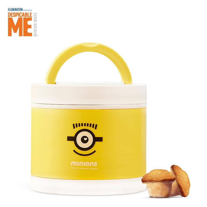 神偷奶爸小黄人便携单层手提餐盒MN-JBXH02-1