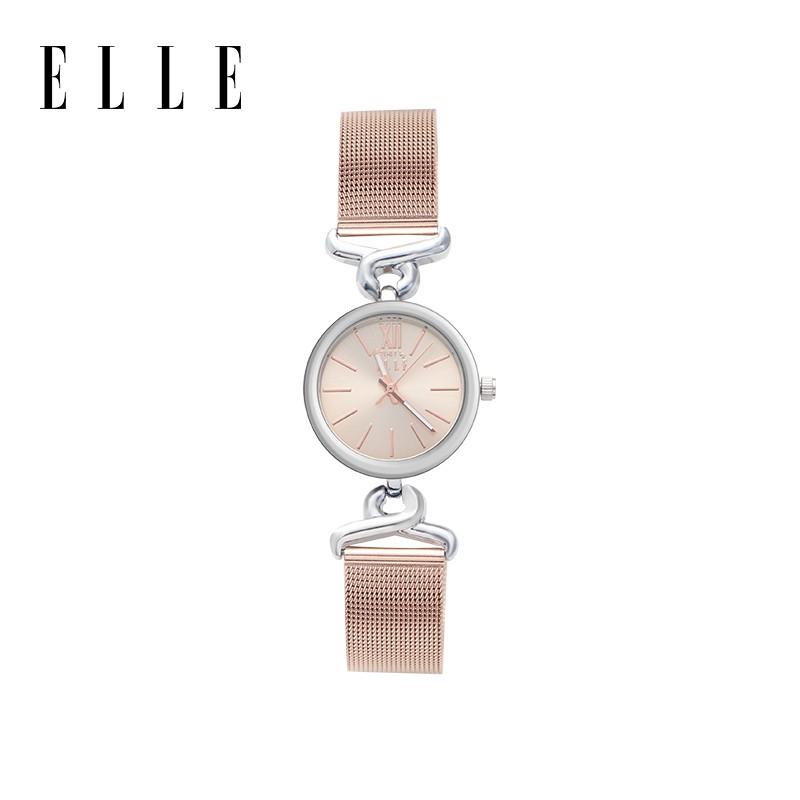 法国ELLE女士石英表小众简约防水钢带小表盘腕表 ES20125B06X