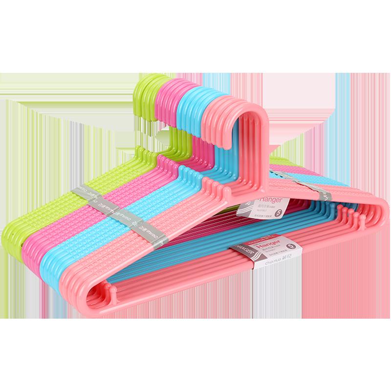 茶花(CHAHUA) 晾衣架子通用型晒衣架衣服挂子茶花通用衣架(15个装) 07081T*3