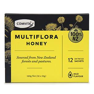 康维他麦卢卡新西兰进口多花种蜂蜜便携装10g*12条