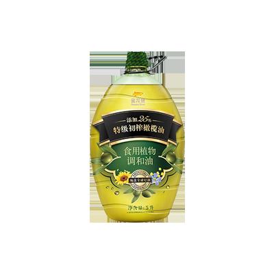 金龙鱼添加25%特级初榨橄榄油食用调和油 5L