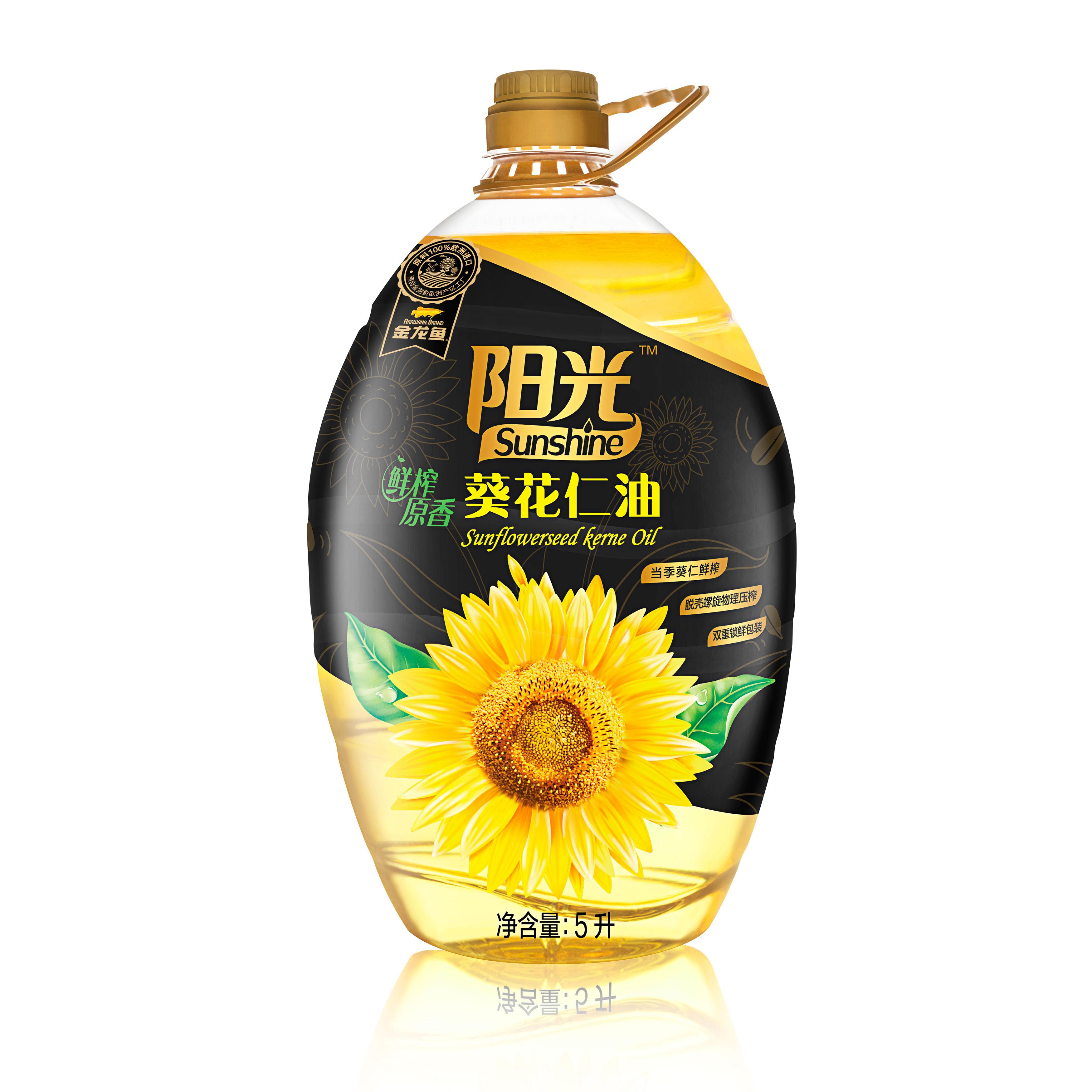 葵花仁油 金龙鱼 阳光鲜榨原香葵花仁油 5L
