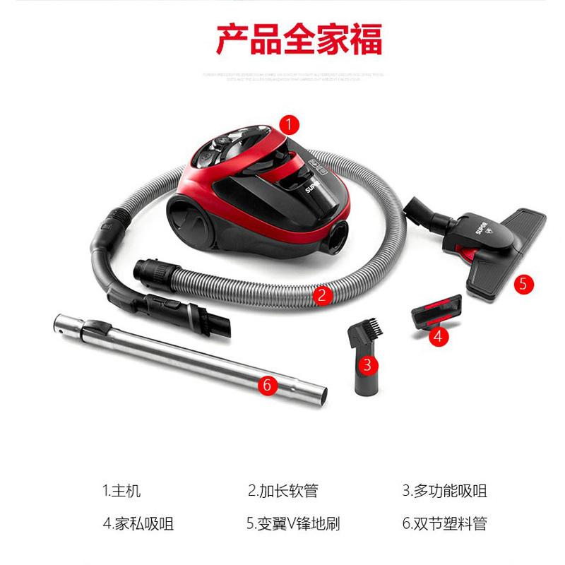 苏泊尔(SUPOR)XC10B33A-12 吸尘器手持式静音强力大功率迷你卧式吸尘机