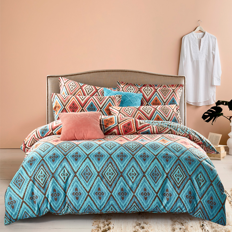 多喜爱家纺 磨毛套件异域风情 床品四件套床单被套双人床 1.8米床单款