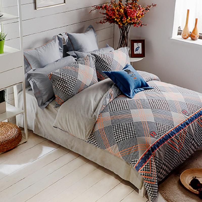 多喜爱家纺 英伦风范套件 床品四件套床单被套双人床 1.8米床单款