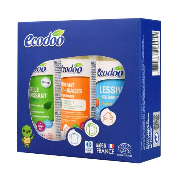 逸乐舒(ecodoo)居家清洁三件套装(洗碗液+清洁剂+洗衣液)80mlX3