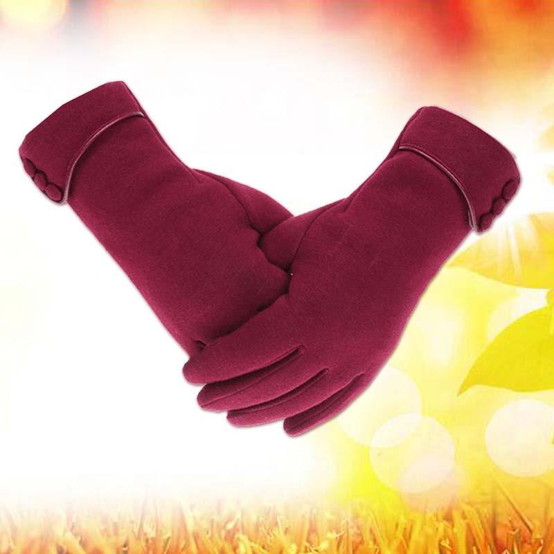 雷宾迪 保暖抓绒手套 不倒绒手套女触屏手套骑车手套C40